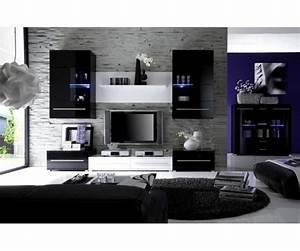 Meuble Salon Noir : meuble salon design noir laqu meubledesign d co pinterest design et salons ~ Teatrodelosmanantiales.com Idées de Décoration