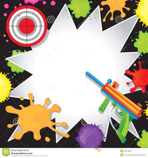 Invitation D'anniversaire De Paintball Illustration de ...