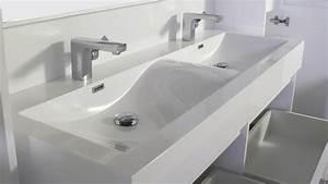 Meuble Salle De Bain 2 Vasques : meuble 2 vasques salle de bain design ~ Edinachiropracticcenter.com Idées de Décoration
