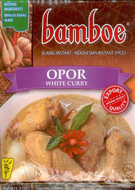 opor white curry  oz  bamboe