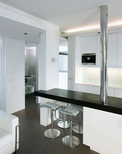 Dining Table, Kitchen Island, Modern Apartment in