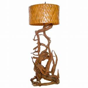 large gnarled driftwood floor lamp for sale at 1stdibs With large driftwood floor lamp