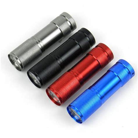 100pcs 9led 9 led mini torch uv light 395 400nm led flashlight aaa battery small torch not