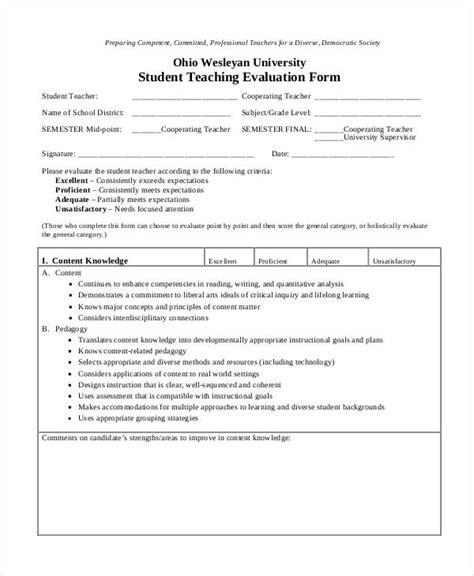 college teacher evaluation form teacher evaluation forms preschool teacher evaluation