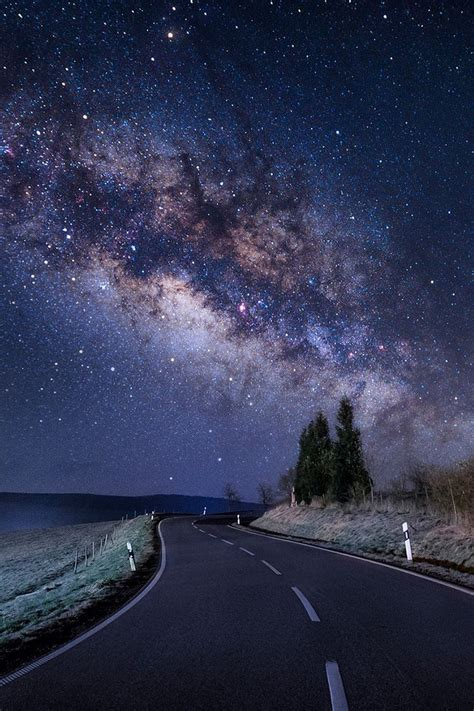 A Tail Of The Milky Way Galaxy Under The Stars Nature