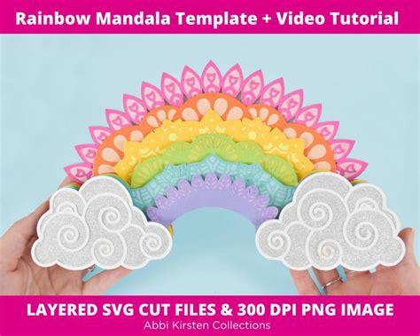 Have you seen those gorgeous layered mandalas all over pinterest lately? Rainbow Mandala SVG Cut File 3D Layered Mandala Art ...