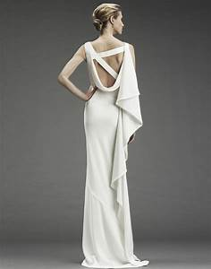 nicole miller column wedding dress with asymmetric criss With nicole wedding dress
