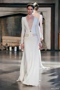 Inbal dror fall 2015 wedding dresses wedding inspirasi for Long sleeve v neck wedding dress