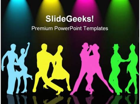 colorful couples dancing competition powerpoint templates
