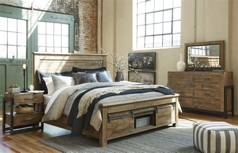 Bedroom Sets by Sommerford Brown Storage Panel Bedroom Set From