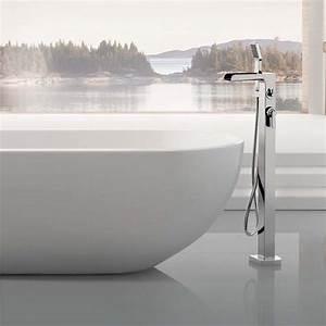 Robinet Cascade Baignoire : robinet mitigeur bain sol cascade ~ Nature-et-papiers.com Idées de Décoration