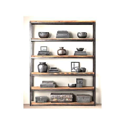 libreria legno grezzo libreria cargo vintage bamba ferro e legno grezzo