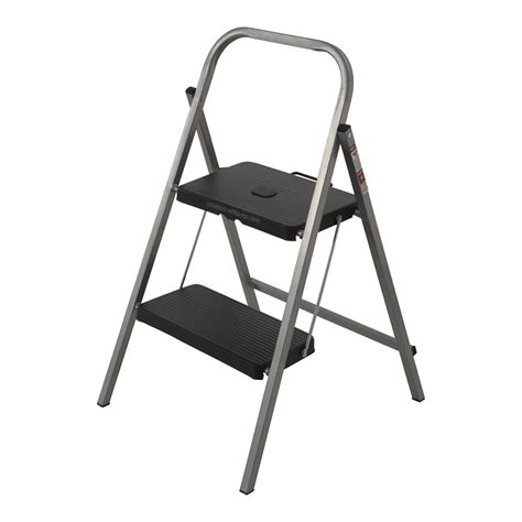 Bunnings Kitchen Ladder by Syneco 100kg 2 Step Steel Folding Step Ladder Bunnings