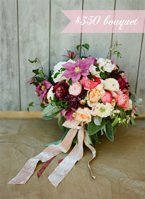 cost  wedding bouquetsbudget breakdown southern
