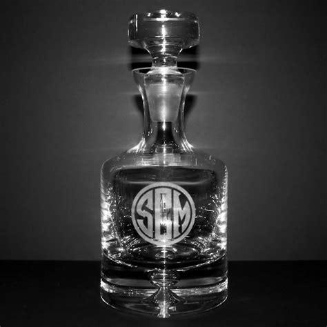Engravable Barware - personalized whiskey decanters barware custom engraved