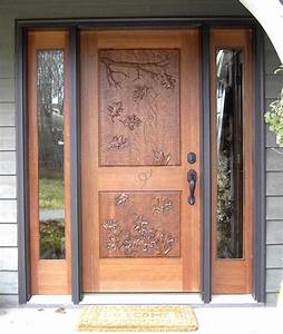 Mahogany, Entrance, With, Hand, Carved, Door, -, Traditional, -, Front, Doors, -, Minneapolis