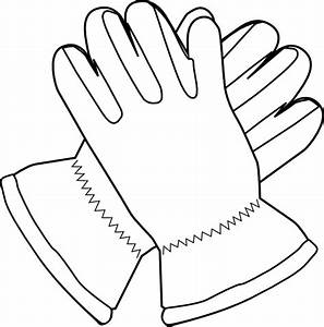 Gloves Outline Clip Art at Clker.com - vector clip art ...