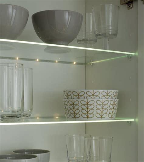 etagere en verre pour cuisine barrette de led pour étagère en verre houdan cuisines
