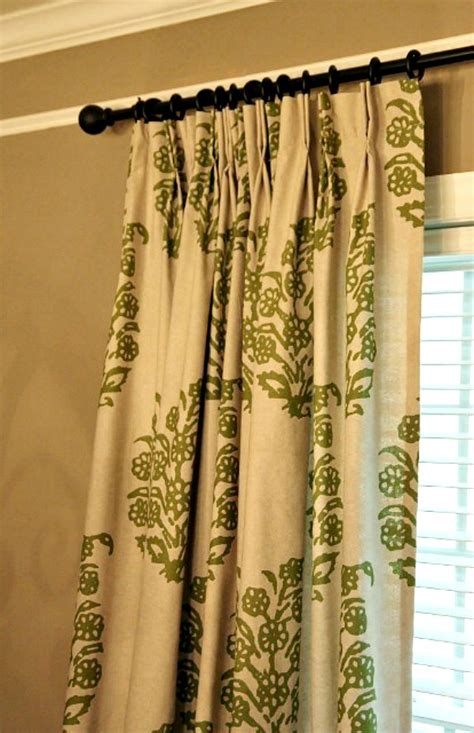 Hanging Pinch Pleat Drapes - 5 ways to customize store bought curtains newton custom