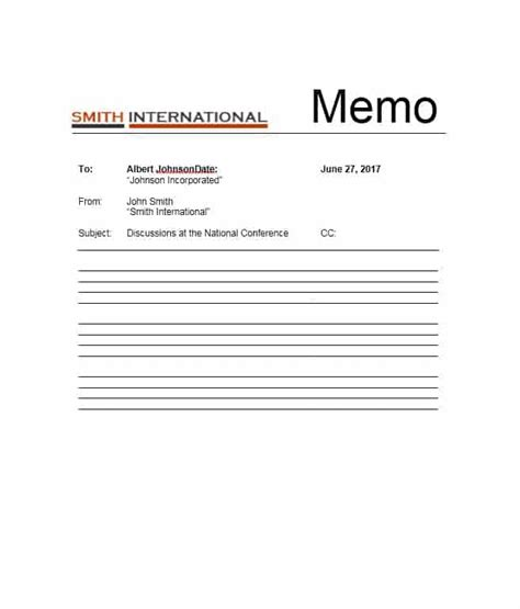 Memo Template by Business Memo Templates 40 Memo Format Sles In Word
