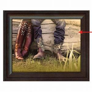 personalized boot love framed canvas small With best brand of paint for kitchen cabinets with monogram framed wall art