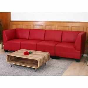 Sofa Schwarz Rot : modular viersitzer sofa couch lyon kunstleder schwarz rot creme ebay ~ Markanthonyermac.com Haus und Dekorationen