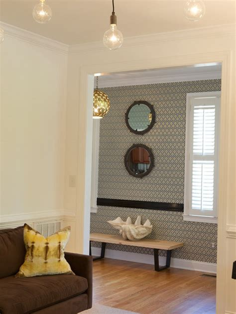 entryway wallpaper design ideas remodel pictures