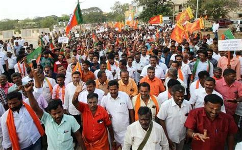 BJP members take out pro-CAA march - The Hindu