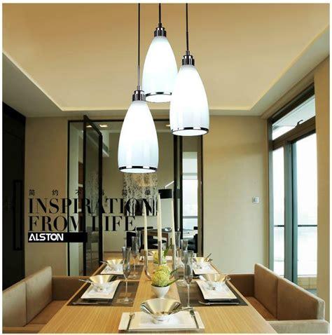 modern white glass ceiling light dining room pendant lamp