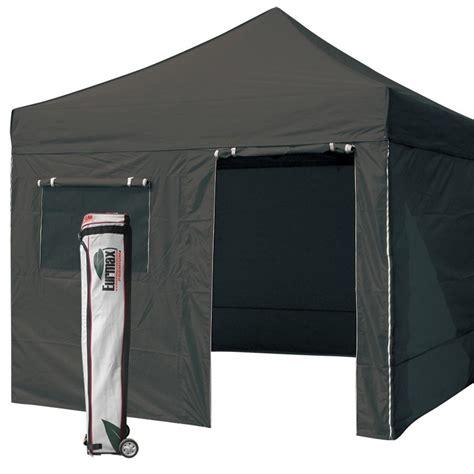 eurmax black canopy    commercial ez pop  tent  walls roller bag awning