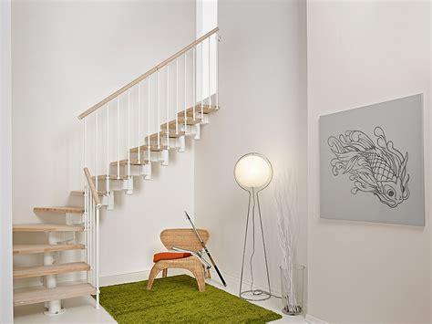 escalier ouvert quart tournant en acier et bois by