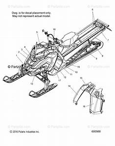 Polaris Snowmobile 2018 Oem Parts Diagram For Body  Decal