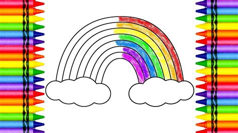 how to colour a rainbow with crayons color lesson for