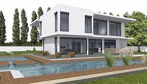 Bauhaus Bungalow Fertighaus : haus mit flachdach bauen graue farbe haus mit flachdach modernes bauen haus und portal f r ~ Sanjose-hotels-ca.com Haus und Dekorationen