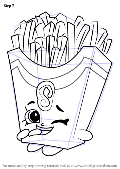 learn   draw fiona fries  shopkins shopkins step  step drawing tutorials