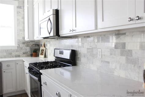kitchen wall tile ideas my diy marble backsplash honeybear