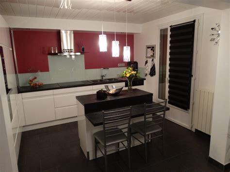 cuisine blanc laque avec ilot cuisine blanc laque avec ilot cool gallery of tourdissant
