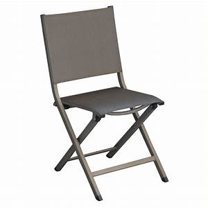 Chaise Pliante Thema Aluminiumtextilne Argent 108 X 49 X