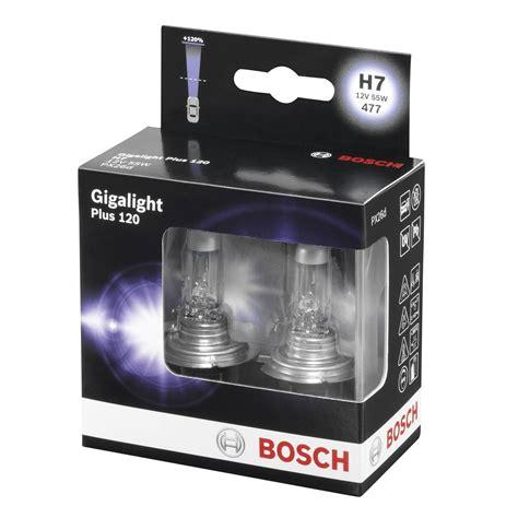 bosch plus 120 gigalight bosch gigalight plus 12v 55w halogen h7 120 bulb kit px26d 1987301107
