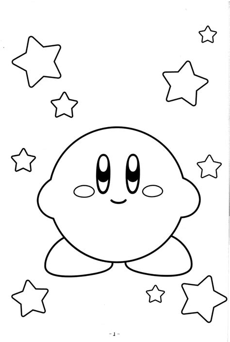 printable kirby coloring pages  kids