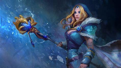 dota  heroes crystal maiden blonde girl templar assassin fan art full hd wallpapers