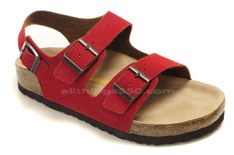 Birkenstock Milano Suede Red Birkenstock Sandals For Sale