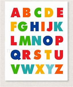 abc alphabet poster print childrens alphabet poster With print large letters for poster
