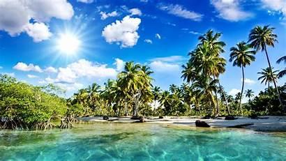 Desktop Beach Tropical Backgrounds Beaches Wallpapers Islands