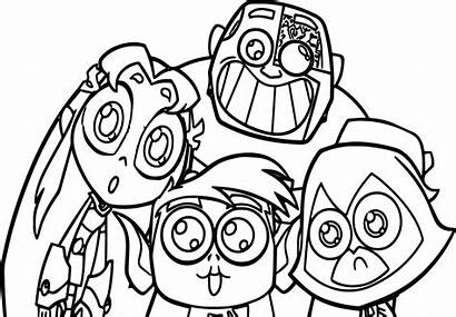 Titans Coloring Teen Pages