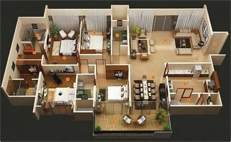 denah rumah minimalis terbaru  kece oliswel