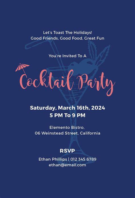 cocktail party invitation cocktail party invitation