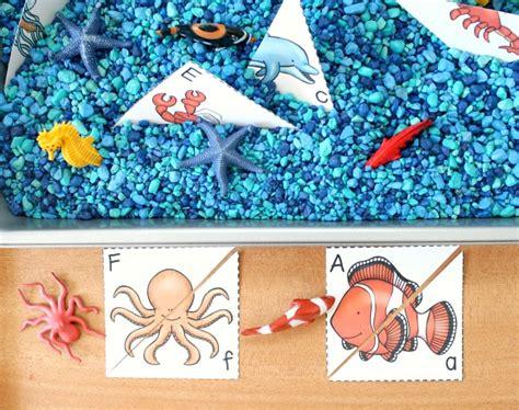 preschool theme activities fantastic amp learning 189 | alphabet match sensory play