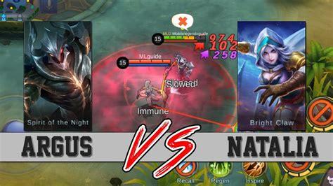 Argus Vs Natalia Mobile Legends (insane Discovery)