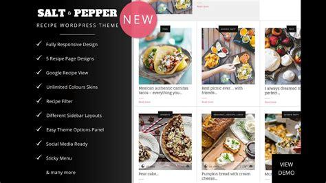 salt pepper food recipes blog wordpress theme food